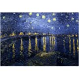 Vincent Van Gogh (Starry Night Over the Rhone) Starlight Art Poster Print 19 x 13in