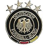 Germany Deutscher Fussball-bund Fifa World Cup 4 STAR Soccer Iron on Patch Crest Badge Deutschland... 2.5 X 3 Inch .. New