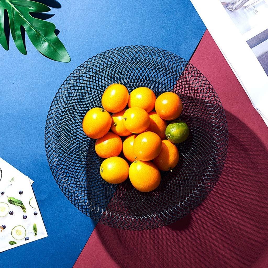 Vassoio per frutta,Ciotola per frutta in plastica Vertice Telaio in acciaio estraibile Controsoffitto Portafrutta grande capacit/à Portabottiglie Casalinghi 2 strati Piatto merenda Ciotole per frutta