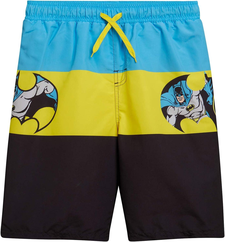 Warner Bros. Boys Swim Trunk Shorts - Batman and Justice League (Toddler & Boys)