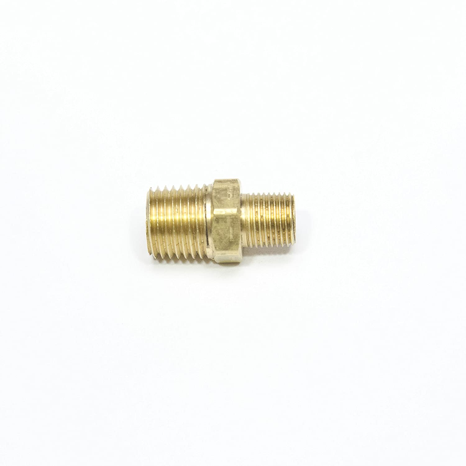 """FasParts 1/4"""" Male NPT to 1/8"""" Male NPT MPT MIP Hex Pipe Nipple Brass Fitting Fuel/Air/Water/Boat/Gas/Oil WOG"""