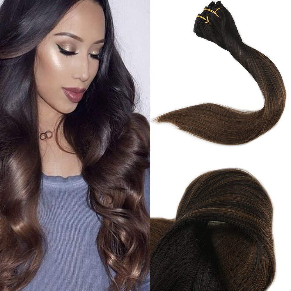 Amazon Full Shine 20 10 Pcs 140 Gram Full Set Clip In Hair