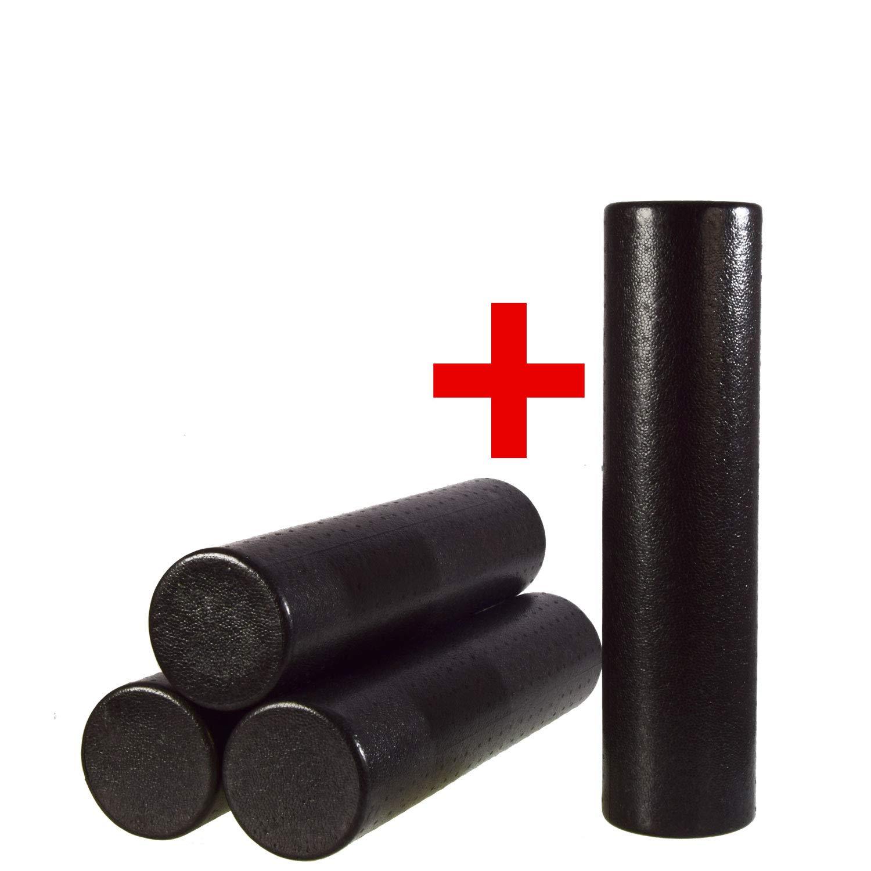4x OLIVER 60 cm Faszienrolle schwarz 30cm Yogarolle Pilatesrolle Fitnessrolle