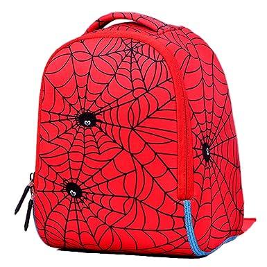 Spider-Man Mochila Escolar Para Niños Adolescentes Ligeros Mochilas Para Niños Y Niñas Bolsas Escolares De 1-3 Años,Spiderman-27 * 23 * 12cm: Amazon.es: ...