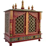 Jodhpur Handicrafts Wooden Temple/ Home Temple/ Pooja Mandir/ Pooja Mandap/ Temple For Home With White Light