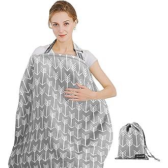 cubiertas de lactancia /Plata gris//blanco Dot Gran calidad 100/% algod/ón Enfermer/ía deshuesada Tops/ /con bolsa de almacenamiento/ BebeChic