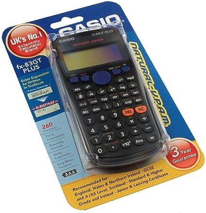 Calculadora cient/ífica con pilas Casio FX83 GT PLUS