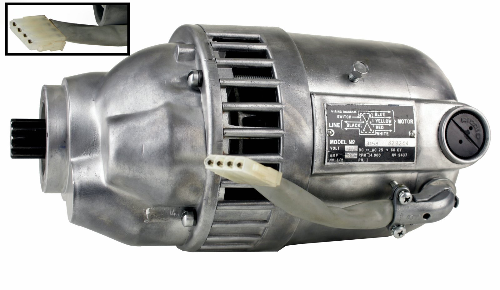 RIDGID 87740 Motor and Gear Box with White Plug (Certified Refurbished)