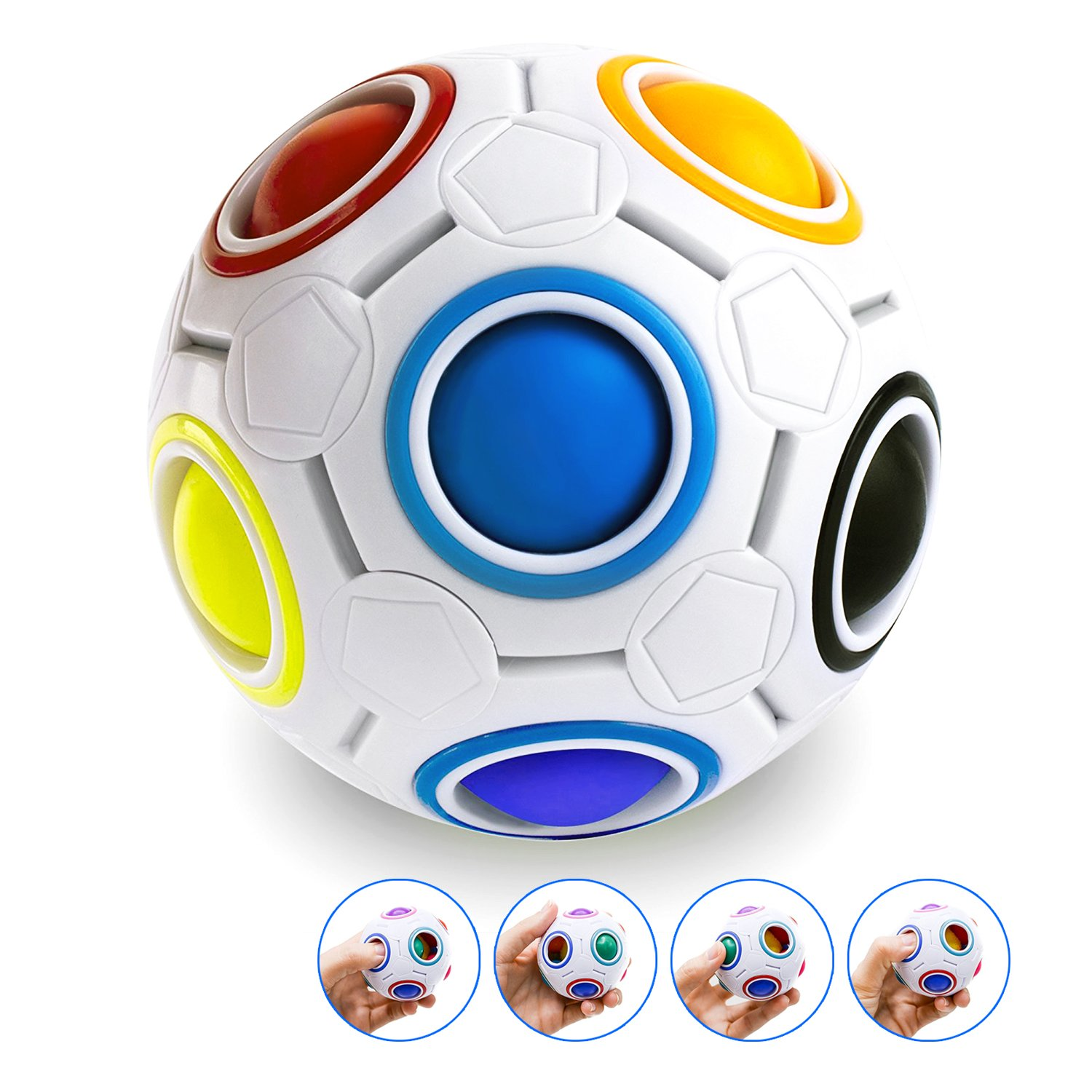 Y Box Rainbow Ball Magic cube Fidget toy puzzle Magic Rainbow ball puzzle Fun fidget