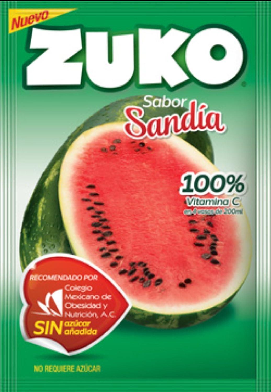3 x Zuko Sandia Sabor sin necesidad de azúcar hace 2 litros ...