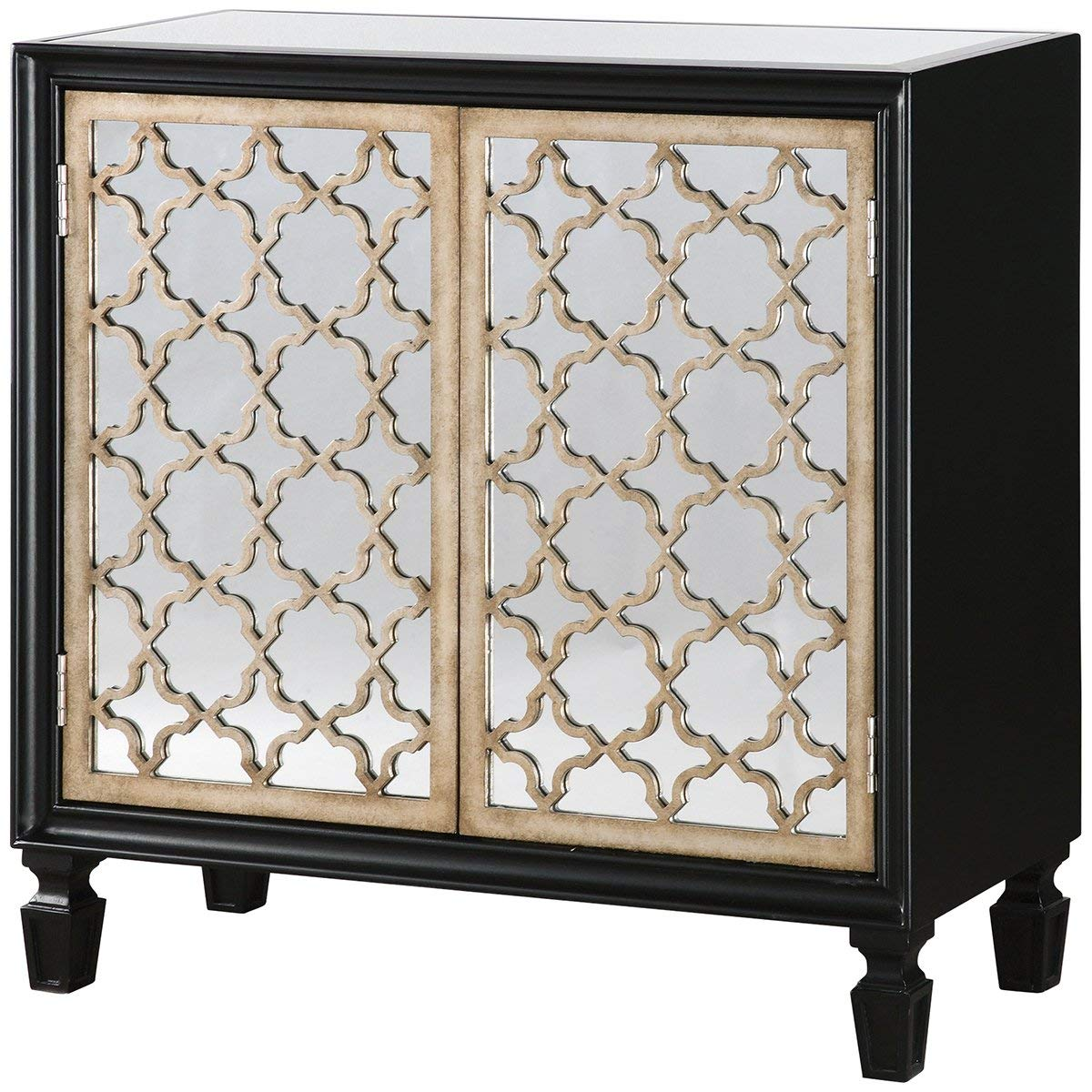 Uttermost Franzea Mirrored Console Cabinet, Black by Uttermost