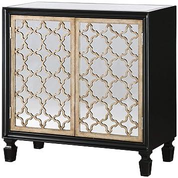 Amazon Com Uttermost 24498 Franzea Mirrored Console Cabinet Black
