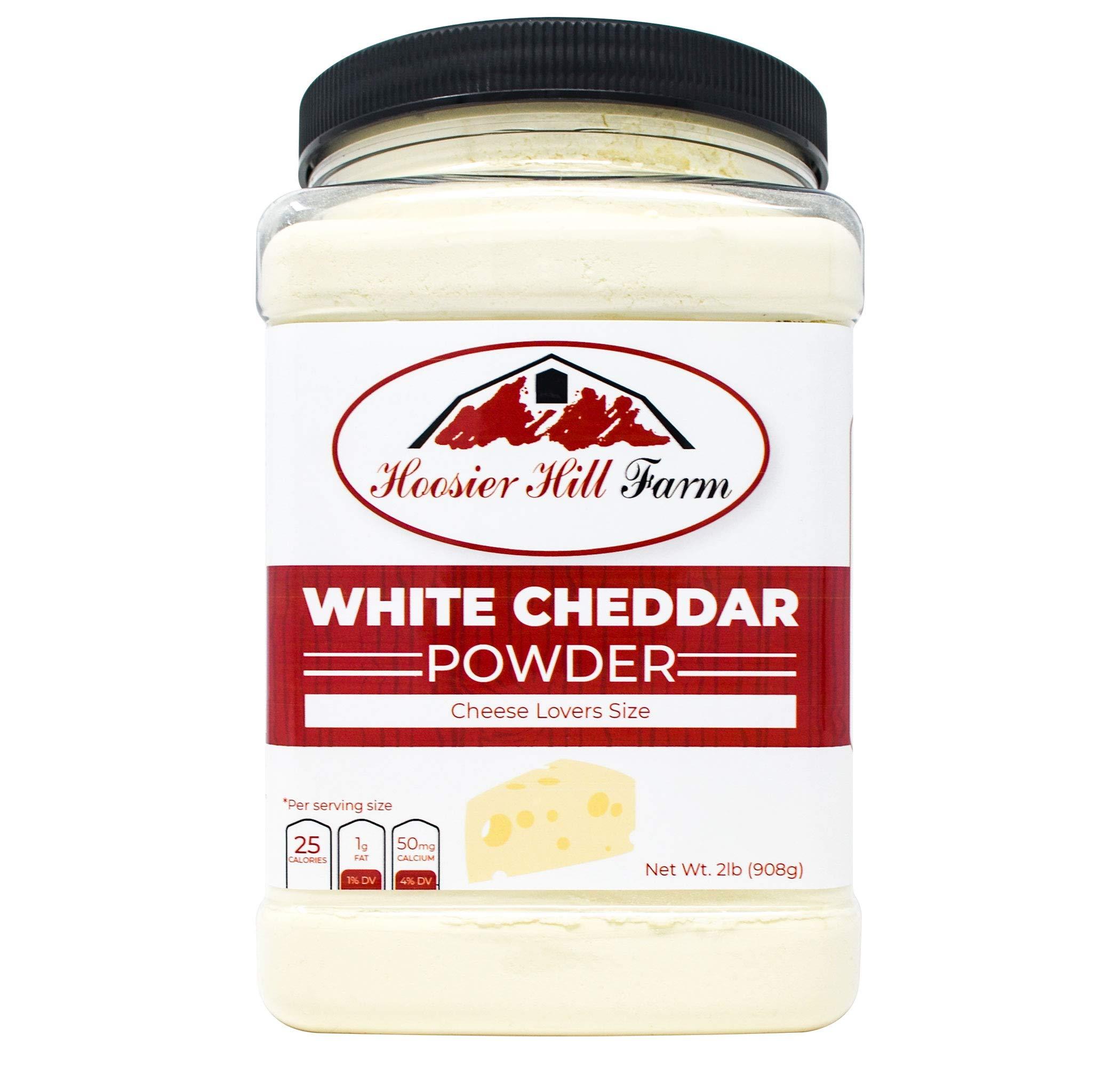 Hoosier Hill Farm White Cheddar Cheese Powder, Cheese Lovers, 2 Pound by Hoosier Hill Farm