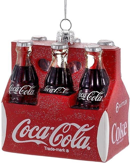 Kurt S. Adler Coca Cola 6 Pack Glass Ornament CC4101 New: Amazon ...