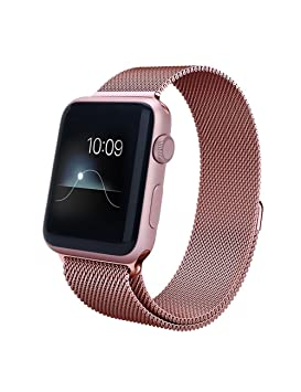 Pulsera de acero para Apple Watch 42 mm – Oro rosa (vendido sin reloj)