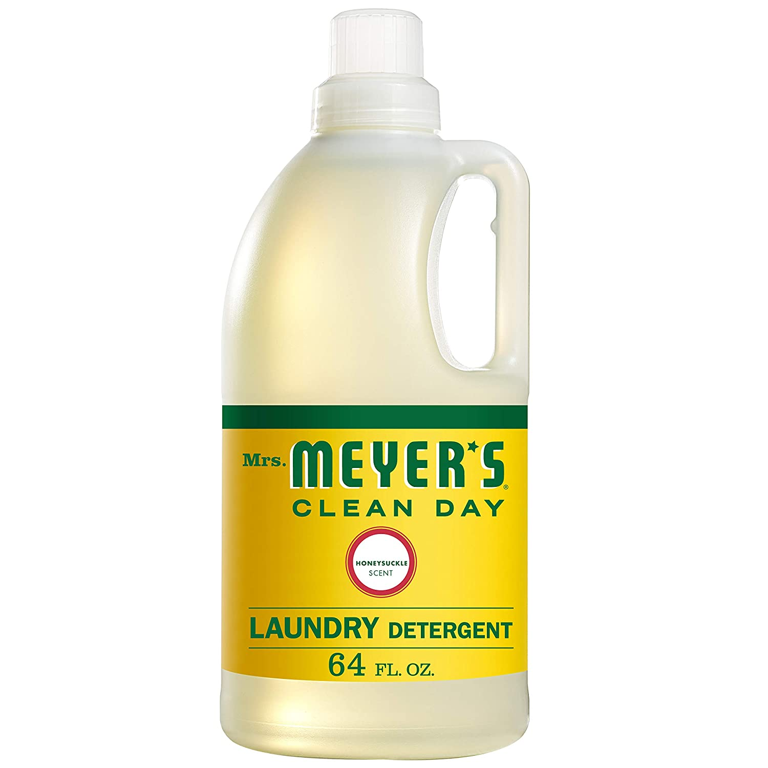 Mrs. Meyers Clean Day Laundry Detergent, Honeysuckle, 64 fl oz