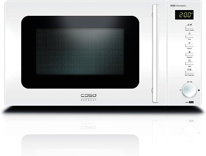 CASO Design Mikrowelle M20 Electronic 800 Watt Edelstahl 20 Liter Timer