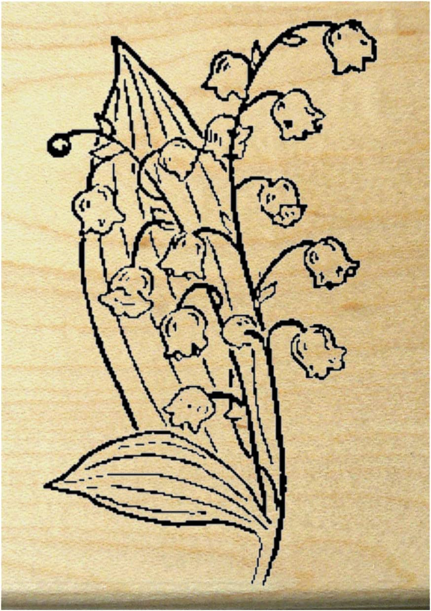 P21 Lily of The Valley Rubber Stamp