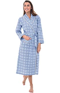 Alexander Del Rossa Womens Striped Cotton Summer Robe 1c14022cf