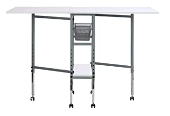 Sew Ready Studio Designs Folding Multipurpose Hobby and Craft Cutting Table with Drawers