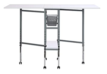 Strange Sew Ready Studio Designs Folding Multipurpose Hobby And Craft Cutting Table With Drawers 13374 Silver White Gmtry Best Dining Table And Chair Ideas Images Gmtryco