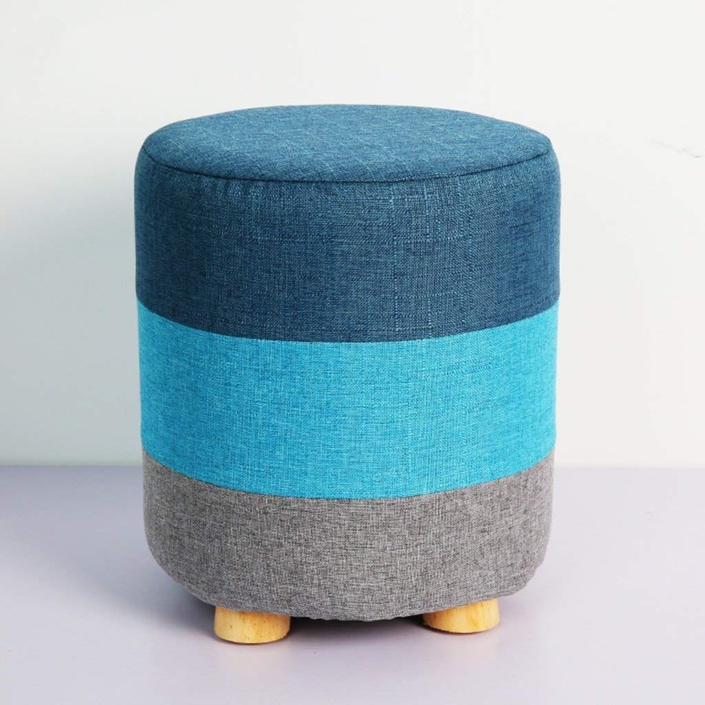 ZDXMZ Stool,Wood Footrest Washable Cover Kids Stools Legs Upholstered Sofa Bench (Size : 28 28 32cm) by ZDXMZ