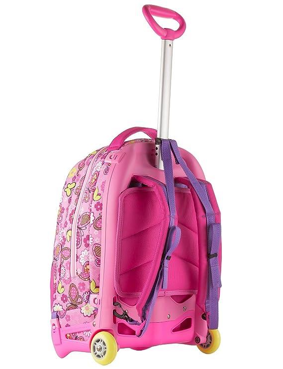 SJ Gang - Mochila con carrito de color rosa Jack Junior con capacidad de 28 litros, desmontable y lavable, ideal para ir a la escuela y de viaje: Amazon.es: ...