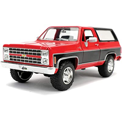 1980 Chevrolet Blazer K5 Red and Black Just Trucks 1/24 Diecast Model Car by Jada 31593 MJ: Toys & Games