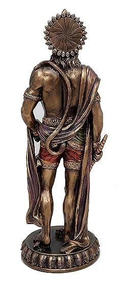 Bonded Bronze Sculpture Fasherati Large Hanuman Idol Hindu God of Strength Bajrangbali Statue