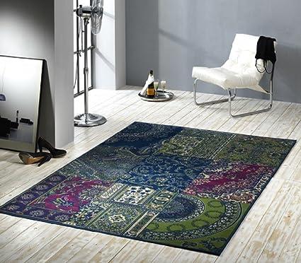 Tappeto orientale Verde/Blu/Tappeto moderno/soggiorno tappeto ...
