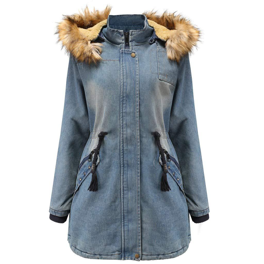 Coats For Women On Sale,Vintress Women Winter Sale Jackets Coat Long Thicken Warm Hooded Padded Coat by Vintress
