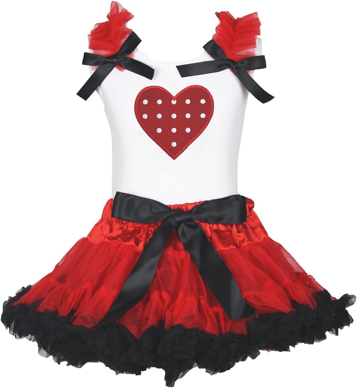 San Valentín vestido lunares corazón rojo de camisa blanca ...