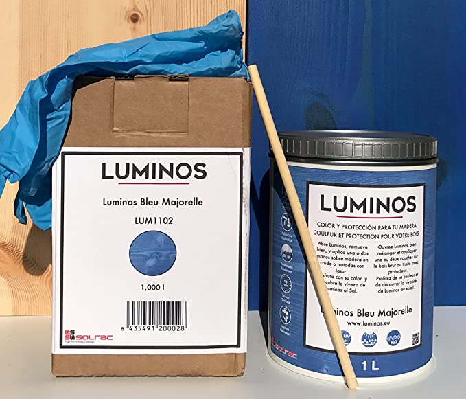Luminos LUM1102 - BLEU MAJORELLE - Lasur Protector para madera ...