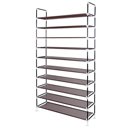 Superieur Awenia 10 Tiers Adjustable Shoe Rack Organizer Storage Shelf For 50 Pairs  Shoes With Spare Parts
