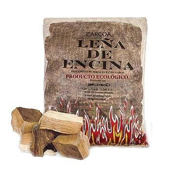 Carcoa Chimenea 06050 - Leña encina, 8 kg, Color marrón: Amazon.es: Jardín
