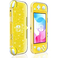 Crystal Glitter Case for Nintendo Switch Lite, Clear Shiny Sparkly TPU Cover for Switch Lite