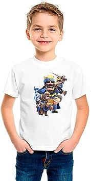 Camiseta niño dibujo royale (Talla 7/8): Amazon.es: Deportes y aire libre