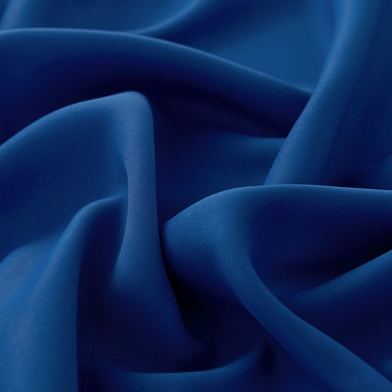 Deconovo Cortina Opaca Gruesa Decór Ventana Accesorios para Habitacion Matrimonio Estilo Moderno Elegante con Ojales 1 Panel 140 x 240 cm Azul Oscuro: ...