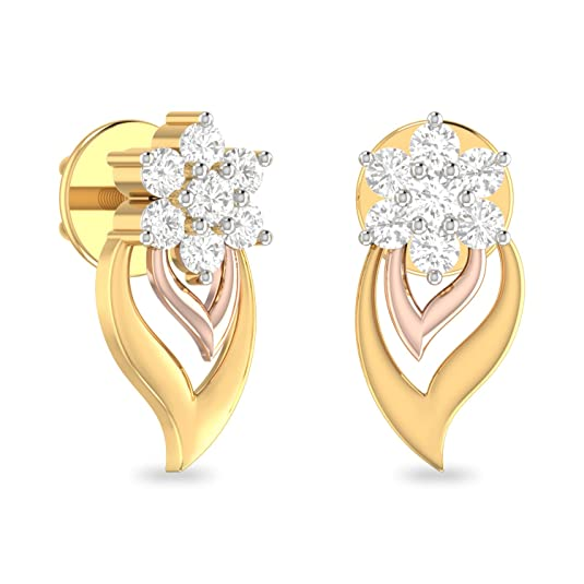 PC Jeweller The Ahane 22KT Yellow Gold Earring Earrings