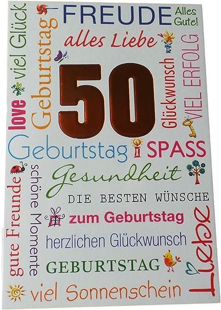 Biglietto Di Auguri Di Compleanno 50 Anni Gioia E Tutto
