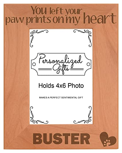 Amazon.com - Personalized Cat Memorial Picture Frame You Left Your ...