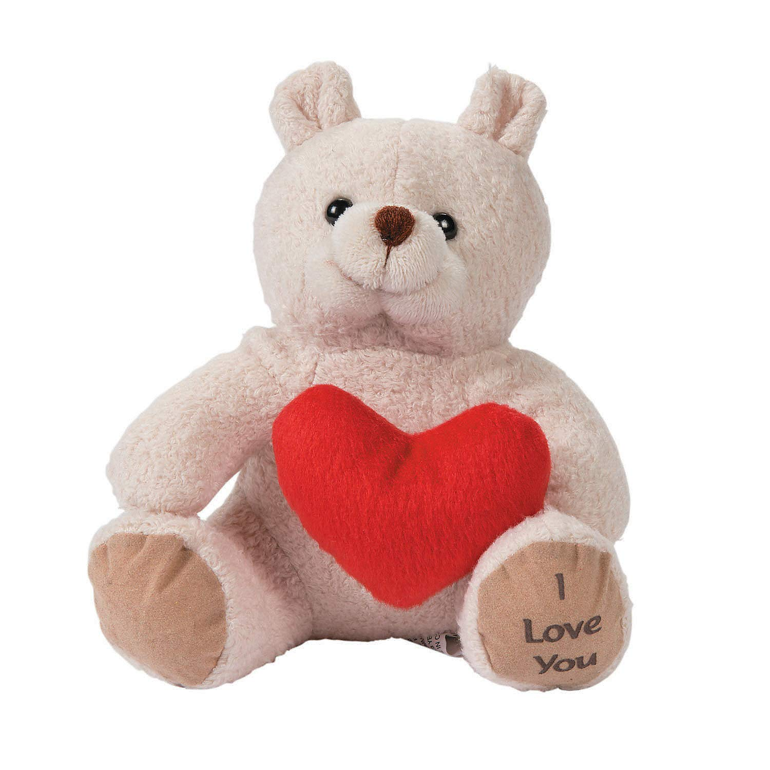 Valentines Day Plush 12 Pieces Oriental Trading Company 32//1600 Toys Stuffed Bears Plush Bears /& Heart for Valentines Day Fun Express