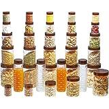 Steelo Plastic PET Container Set, 34-Pieces, Maroon
