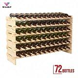4 Family 72 Bottles Holder Wine Rack