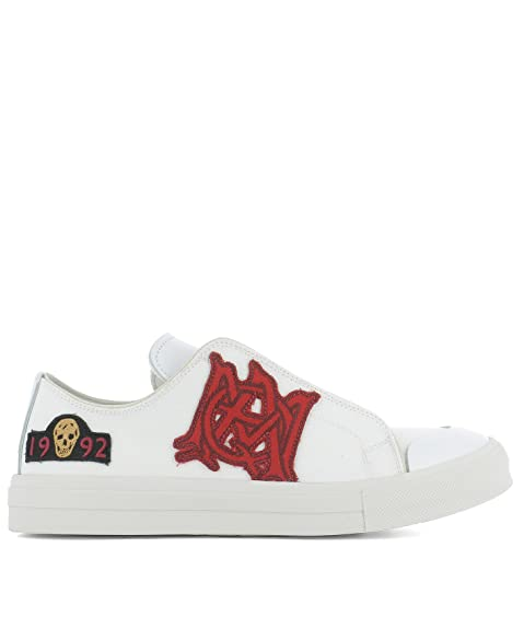 Alexander McQueen Sneakers Uomo 457335WHJ8C9026 Tessuto ...