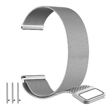 BarRan reg; Nokia Steel HR 40MM Bracelet, 20mm Milanese boucle du bracelet montre magnétique