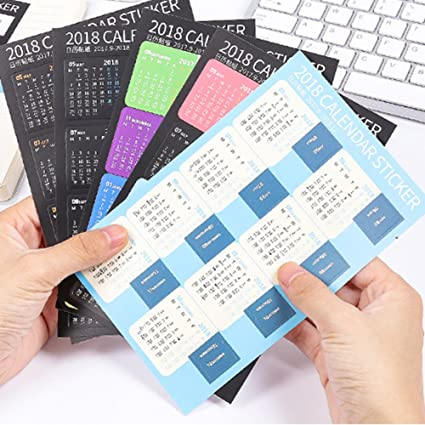Amazon.com : Shuohu 2018 Calendars Stickers for Bullet ...