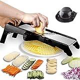 GProMe Mandoline Slicer – Adjustable Thickness Vegetable Mandolin, Fruit Potato Slicer, French Fries Cutter, Food Waffle,Juli