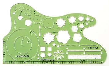 Amazon.com: Alvin TD5361 Landscape Design Template: Arts, Crafts ...