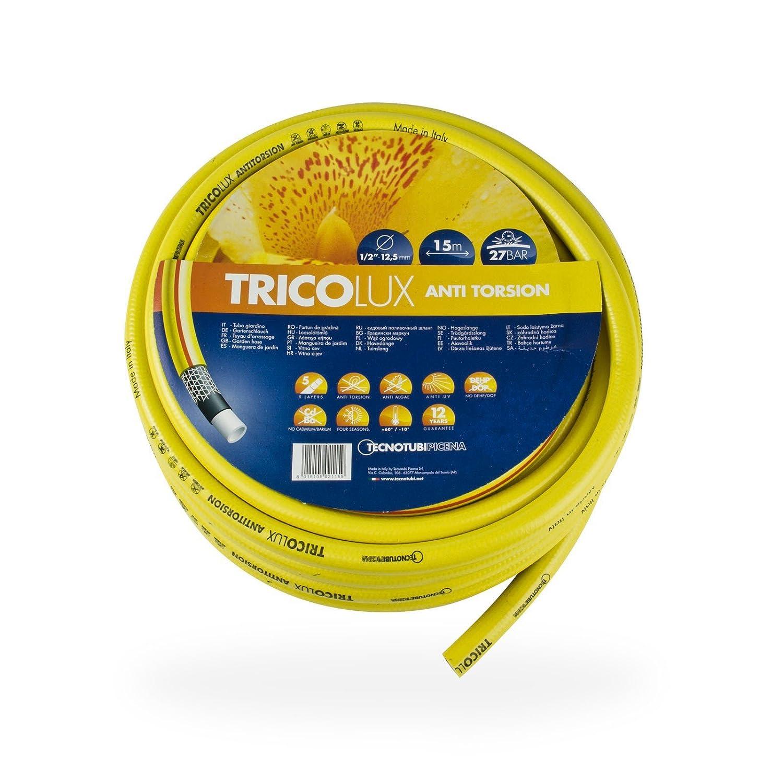 TecnoTubi Tricolux Anti-Torsion 1' Gartenschlauch gelb 25 m · 50 m, Länge:50 m